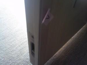 ドア削れ補修済み